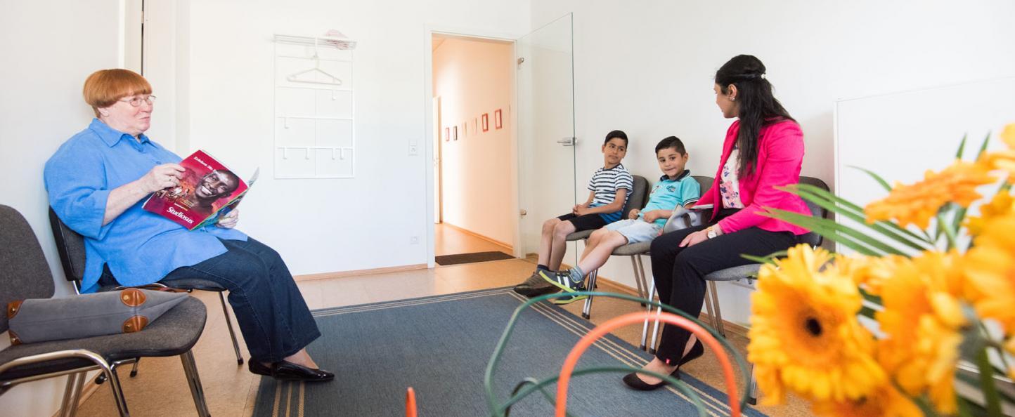 Wartebereich der Praxis für Sprach- und Stimmtherapie in Hannover